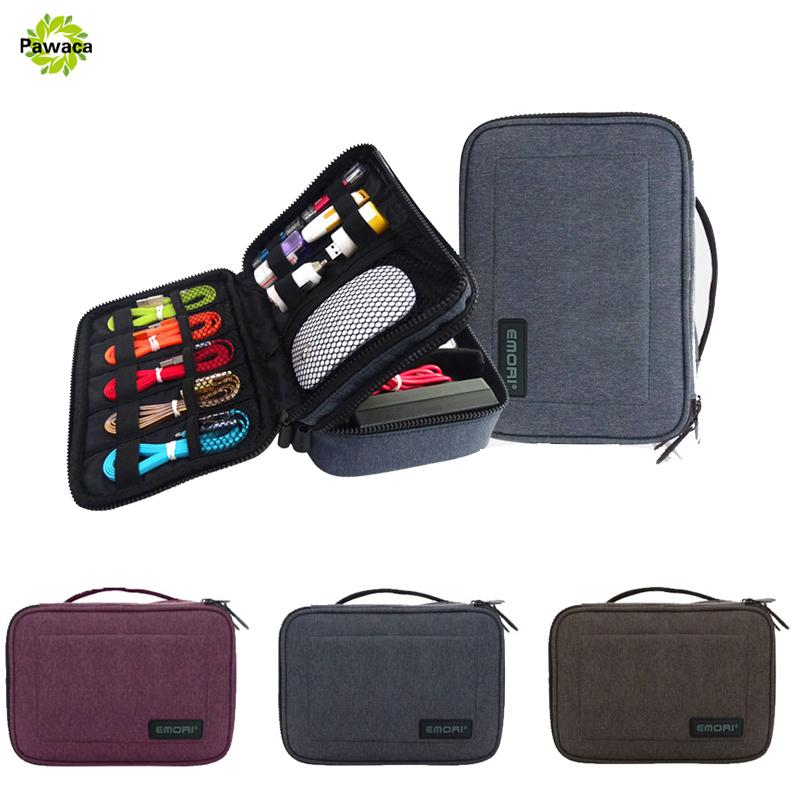 Waterproof Portable Travel USB Wires Storage Bag