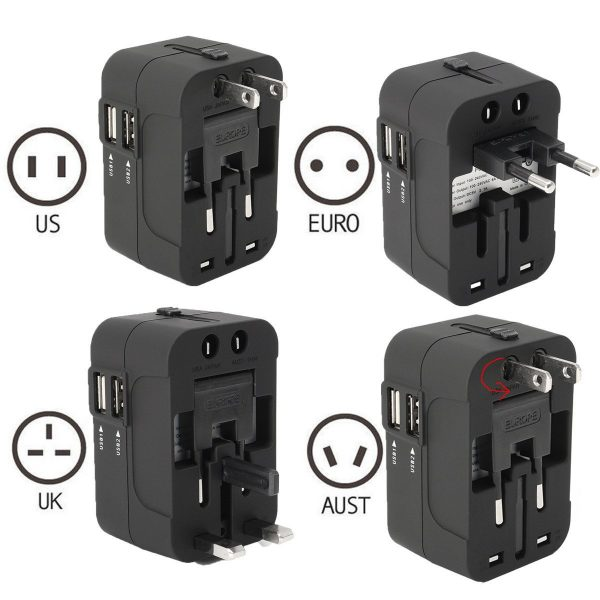 Universal Power Adapter - USB Charger - Electric Converter