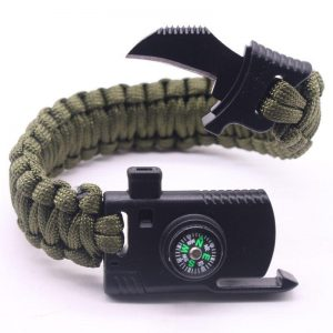 4 In 1 EDC Outdoor Survival Bracelet - Paracord, Whistle..