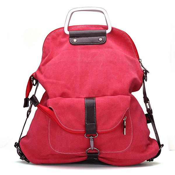 Women Canvas Casual Backpack / Shoulder Handbag