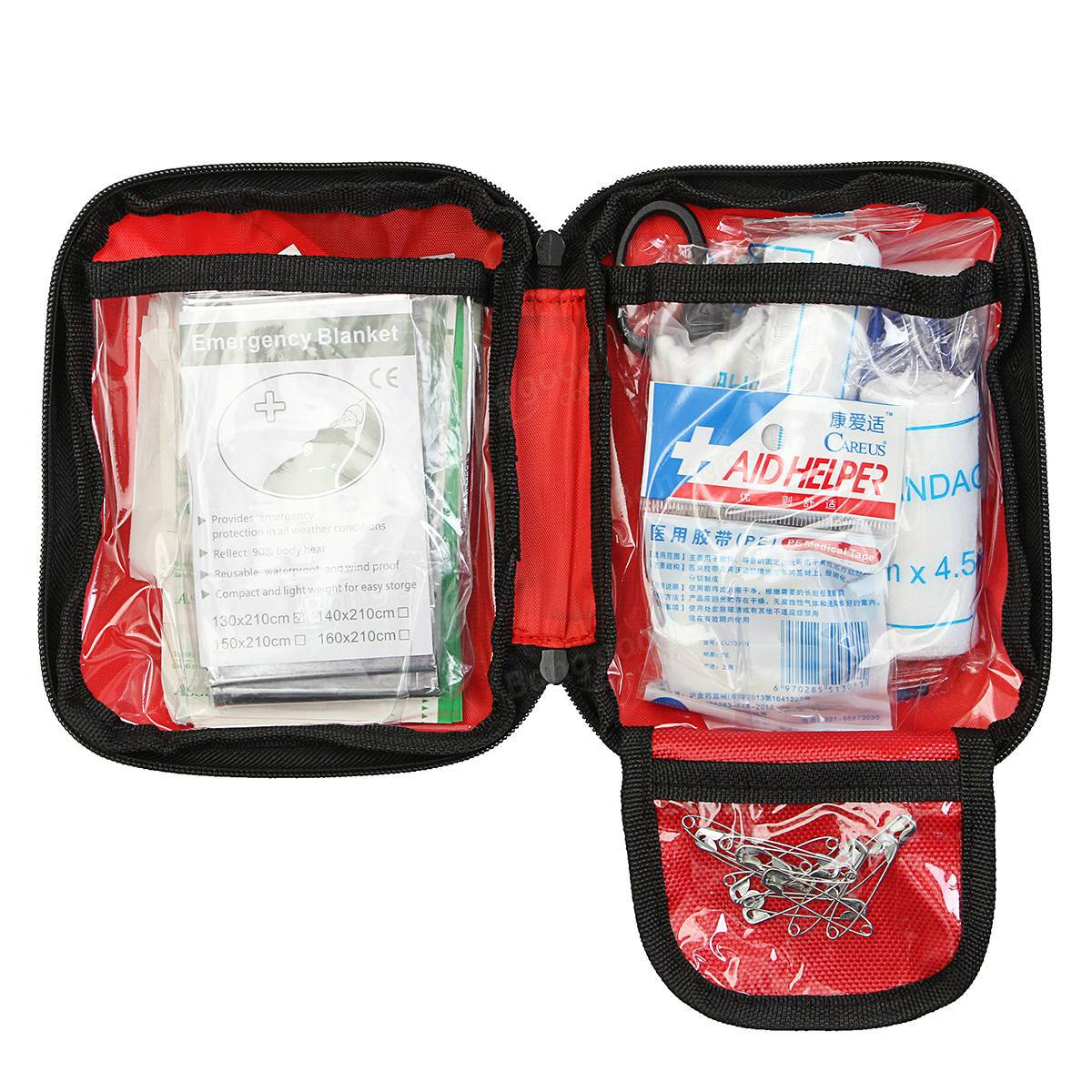 101 Pieces Portable Nylon Emergency First Aid Kit
