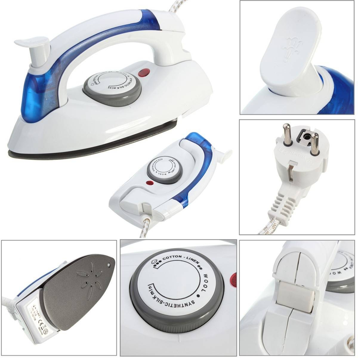 Foldable Thermostatic Flat Travel Steam Iron