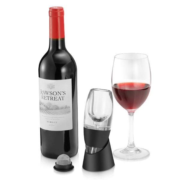 Instant Wine Aerator Travel Acrylic Decanter w/ Holder