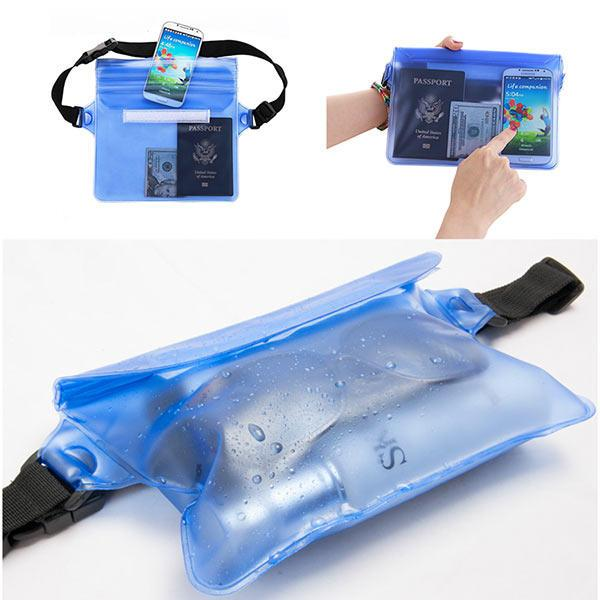Waterproof Beach Storage Bag w/ Touch Responsive Screen