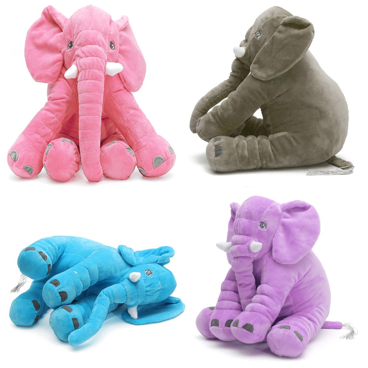 Soft Plush Kids Elephant Pillow