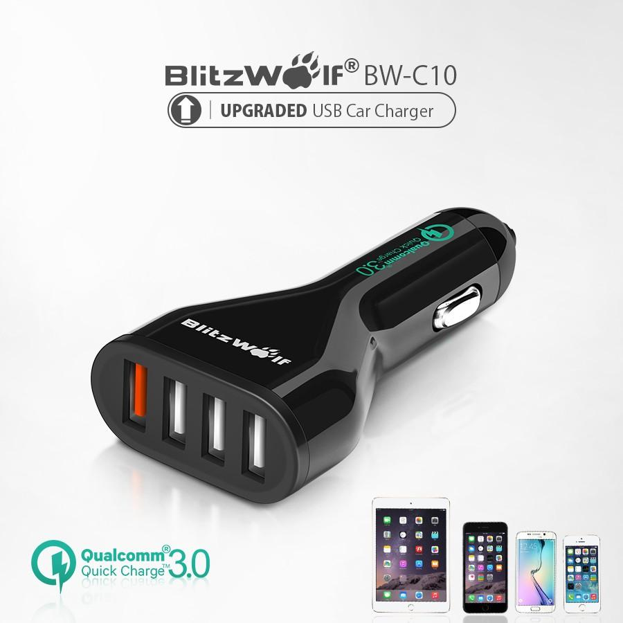 USB Car Charger with Power3S and Quick Charge 3.0
