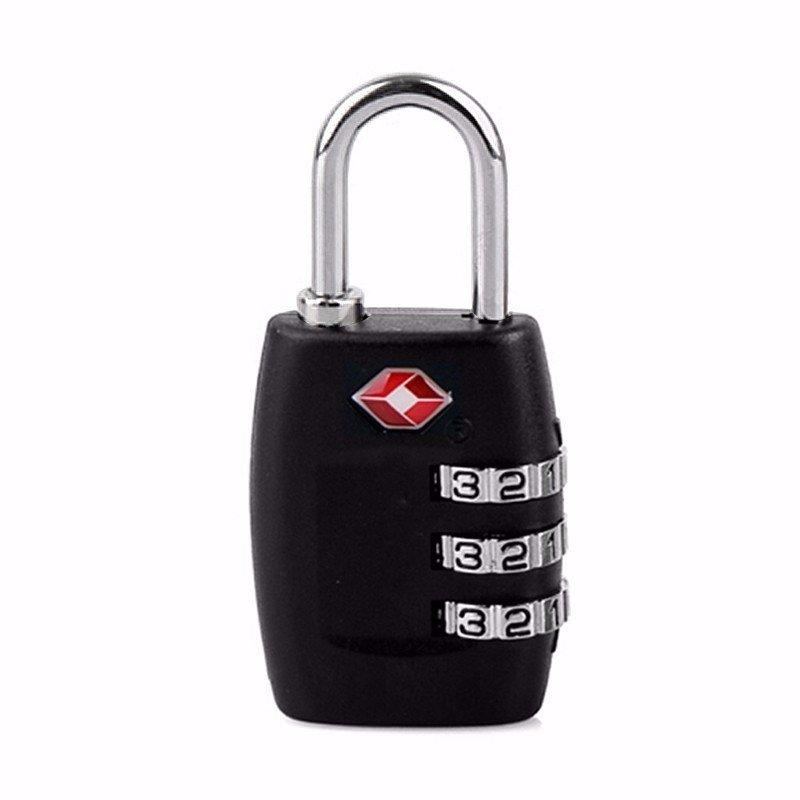 TSA/Customs 3 Dial Combination Travel Padlock For Luggage
